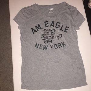 American Eagle '77 Gray T Shirt
